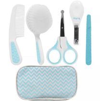 Kit Bebê Higiene Cuidados Com Estojo Azul Buba - Buba toys
