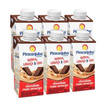 Kit Bebida com Cereais Piracanjuba Chocolate Amargo 6x200 ml -