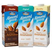Kit Bebida de Amêndoas Almond Breeze Sabores 1L - Piracanjuba