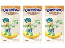 Kit Bebida Láctea Danoninho Amêndoa e Banana - 100% Vegetal 200ml 3 Unidades