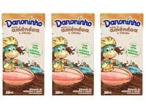 Kit Bebida Láctea Danoninho Amêndoa e Cacau - 100% Vegetal 200ml 3 Unidades