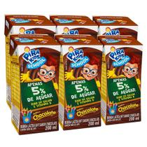 Kit Bebida Láctea Pirakids School Sabor Chocolate 6x200ml - Piracanjuba