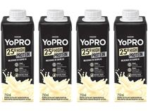 Kit Bebida Láctea YoPRO Milkshake de Baunilha - Sem Lactose Zero Açúcar 250ml 4 Unidades
