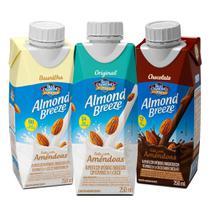 Kit Bebidas de Amêndoas Almond Breeze 3 Sabores 250ml - Blue Diamond