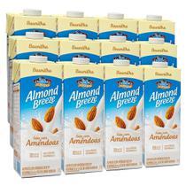 Kit Bebidas de Amêndoas Almond Breeze Baunilha 12x1L - Blue Diamond