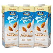 Kit Bebidas de Amêndoas Almond Breeze Baunilha 3x1L - Blue Diamond
