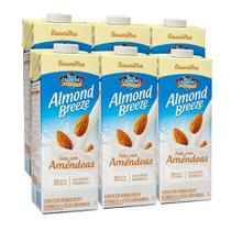 Kit Bebidas de Amêndoas Almond Breeze Baunilha 6x1L - Blue Diamond