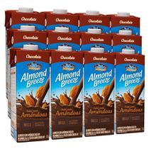 Kit Bebidas de Amêndoas Almond Breeze Chocolate 12x1L - Blue Diamond