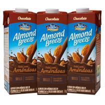 Kit Bebidas de Amêndoas Almond Breeze Chocolate 3x1L - Blue Diamond