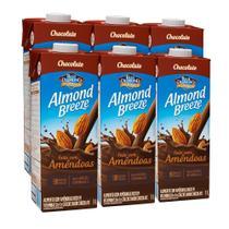 Kit Bebidas de Amêndoas Almond Breeze Chocolate 6x1L - Blue Diamond
