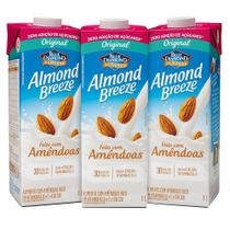 Kit Bebidas de Amêndoas Almond Breeze Zero 3x1L - Blue Diamond