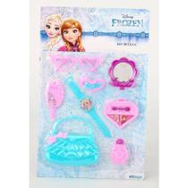Kit Beleza Infantil Com Bolsa E Acessorios Frozen Na Cartela - Etilux