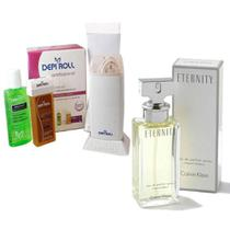Kit Beleza Perfume Eternity Feminino Eau De Parfum 100ml Com Depi Roll Roll-on - Calvin klein