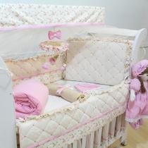 Kit Berço Alicia Floral Luxo 09 Peças - Precious Baby