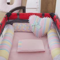 Kit Berço Cercado Desmontável Lhama Candy Colors - Bebê Enxovais