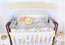 Kit Berço Unisex- Leãozinho 09 Peças - Coleção Gold - Happy Baby