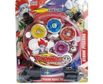 Kit Beyblade Burst Metal Tornado + Lançador + Arena - Lianfa toys -