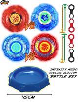 Kit Beyblade Infinity Nado Special Battle Set Edition + 4 Pião Beyblade -