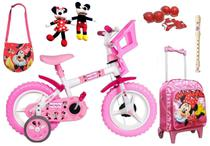 Kit Bicicleta Minnie Mouse + Mochila - Exp