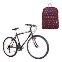 Kit  Bicicleta Track & Bikes Thunder Aro 26 + Mochila Jansport SuperBreak Russet Red Bleeding - Track & Bikes / Jansport