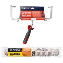 Kit Big Rolo Rende Plus 46cm + Garfo Profissional Atlas -