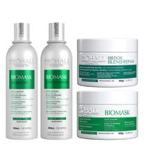 Kit Biomask Shampoo, Condicionador e Máscara + Botox Capilar Blend Repair - Prohall