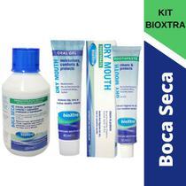 KIT BIOXTRA Para Boca Seca:gel +creme dental+ enxaguatório -