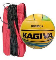 Kit Biribol - Bola Kagiva + Rede Vôlei Piscina 3 Mts -