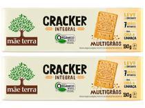 Kit Biscoito Cream Craker Multigrãos Integral  - Vegano Mãe Terra 130g 2 Unidades
