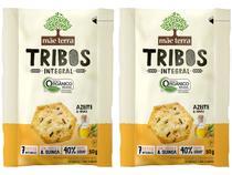 Kit Biscoito Vegano Azeite e Ervas Integral Tribos - Mãe Terra 2 Unidades 50g Cada