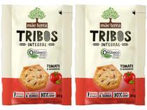 Kit Biscoito Vegano Tomate e Manjericão Integral - Tribos Mãe Terra 50g 2 Unidades