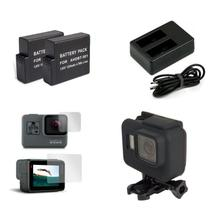 Kit Black Duas Baterias Carregador Duplo Películas De Vidro Capa Moldura Protetora - Mega Vendas Online