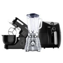 Kit Black Inox - Batedeira - Fritadeira - Liquidificador Oster -