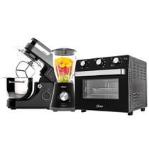 Kit Black Premium Forno e Fryer - Batedeira - Liquidificador - Oster