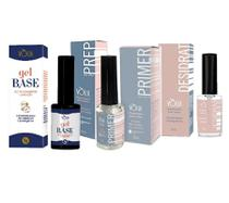Kit blindagem volia Gel base Prep Primer Desidrat ph unhas -