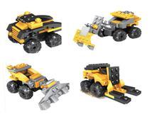 Kit Bloco de Montar Inblox Creators 4 modelos Autobots 2 em 1 Movido a Fricção - 178 peças -