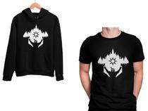 Kit Blusa Moletom Dark Souls e Camiseta Preto Unissex - Mikonos