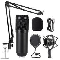Kit Bm-800 Microfone Condensador Profissional EJZ com Braço -