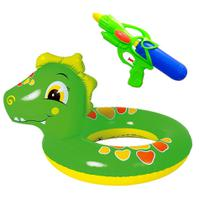 Kit Boia Infantil de Cintura Dinossauro e Arminha de Água - Dm Toys