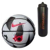 f21ee1a3c3 Kit Bola Basquete Nike LeBron Playground 8P Preto Branco + Squeeze  Automático 1lt