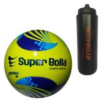 Kit Bola Campo Tornado Pro 6 Gomos Color Super Bolla + Squeeze Automático  1lt c1ddf1a99ed93