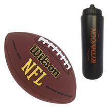 kit Bola de Futebol Americano Pro Wilson NFL + Squeeze Automático 1lt - Rythmoon