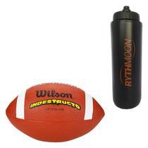 Kit Bola de Futebol Americano Top Notch Wilson + Squeeze Automático 1lt - Rythmoon