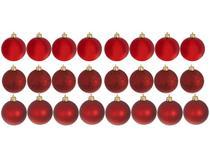 Kit Bola de Natal Vermelha NATAL070 Casambiente - 6cm 24 Unidades