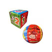 kit Bola e Dado de Pelúcia para Bebê 3 meses Chocalho colorido didático DM - Dm Toys