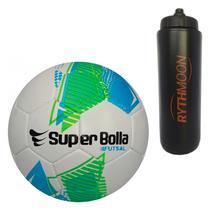 Kit Bola Futebol Futsal Ultimate Nacional 2018 Super Bolla + Squeeze  Automático 1lt 61c93e9f4c351