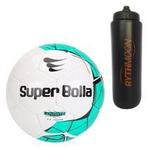 98e7582e96feb Kit Bola Futebol Society Ultimate Nacional Super Bolla + Squeeze Automático  1lt