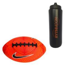1308f8ce9 Kit Bola Nike Futebol Americano 500 Mini 4.0 Laranja + Squeeze Automático  1lt