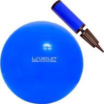 Kit Bola Suíça 65 Cm + Bomba Liveup Yoga Pilates Fitness -