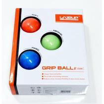 Kit bolas de aperto grip ball - leve, medio, forte- 5 cm - liveup sports -
